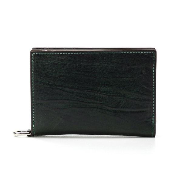 二つ折ミニ財布(グリーンの正面)
