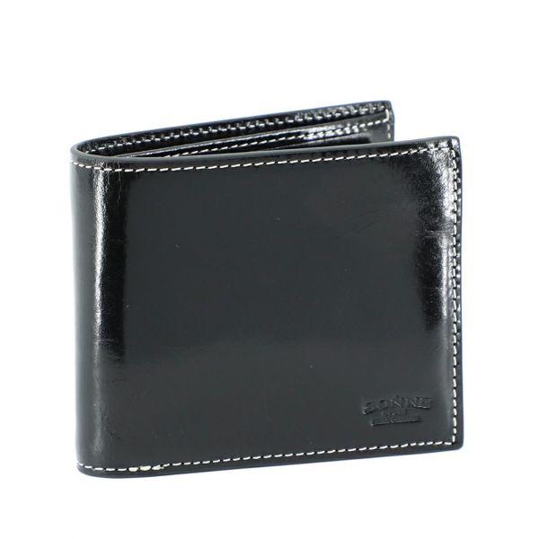 二つ折り財布(ブラックの正面)