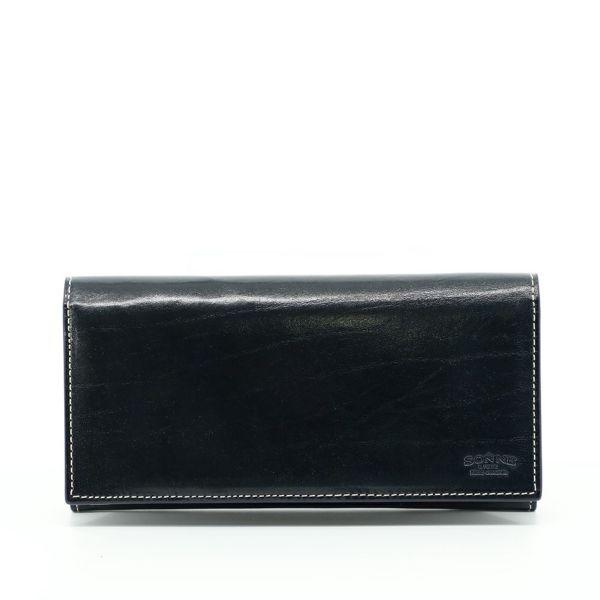 長財布(ネイビーの正面)