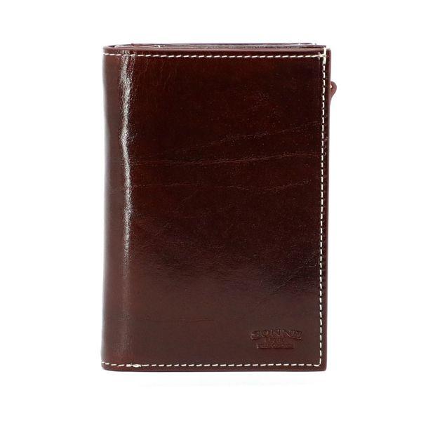 二つ折り財布(ワインの正面)